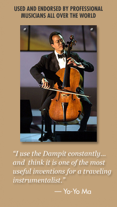 Dampits are used and endorsed by professional musicians